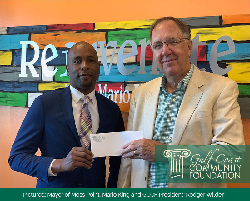 Hancock Whitney donates to the Community Foundation COVID Fund to assist Moss Point